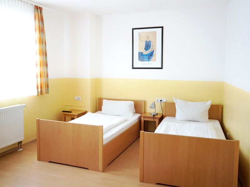 2-Bett-Zimmer mit getrennten Betten